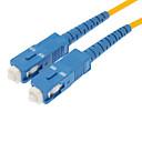 Fiber Optic Cable M/M SC/SC SM Multi Mode Duplex Cable 9/125 Type 3.0mm Yellow (5M)