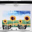 75x45cm Sunflower Pattern Oil-Proof Water-Proof Hot-Proof Kitchen Wall Sticker