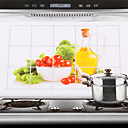 75x45cm Vegetables Pattern Oil-Proof Water-Proof Kitchen Wall Sticker