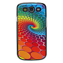 Rotating Colorful Wave Point Pattern Aluminum Hard Case for Samsung Galaxy S3 I9300