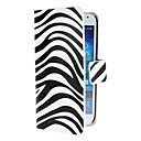 Zebra Pattern PU Leather Case with Magnetic Snap and Card Slot for Samsung Galaxy S4 mini I9190