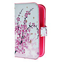 Mini Elegant Flower Pattern PU Leather Case with Magnetic Snap and Card Slot for Samsung Galaxy Grand DUOS I9082