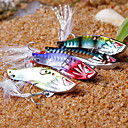 New Designed Colorful Fishing 3-Hooks with Fish-Shaped Feathers Metal Lure(10g,15g; Color Ramdon)