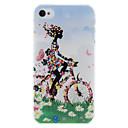 Прекрасный цветок девушка Pattern Жесткий чехол для ПК iPhone 4 / 4S