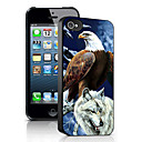 Eagle and Wolf Pattern 3D Effect Case for iPhone5