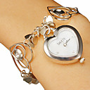 Women's Heart-shape Dial Hollow Engraving Band Quartz Analog Bracelet Watch