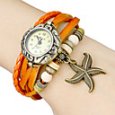 Women's Star Fish Pendant Leather Band Quartz Analog Bracelet Watch (Assorted Colors) Cool Watches Unique Watches