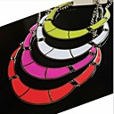 Bump color fluorescent candy color necklace collar metallic short circle