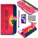 For HTC Case Card Holder / Wallet / with Stand / Flip Case Full Body Case Word / Phrase Hard PU Leather HTC