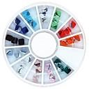 36PCS цвет смешивания 4 мм Площадь куб Кристалл Стразы колеса украшения искусства ногтя
