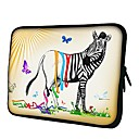 Elonno Butterfly and Zebra Neoprene Laptop Sleeve Case Bag Pouch Cover for 15'' Macbook Pro Retina Dell HP Acer