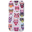 Cartoon Pretty Owl Pattern Full Body Case with Card Slot for iPhone 5/5S