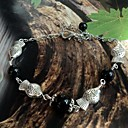 Lureme®Yunnan Tibet National Style Small Fish Silver-Plated Anklet