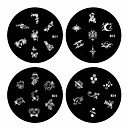 1PCS Nail Art Stamp Stamping Image Template Plate B Series NO.21-24(Assorted Pattern)