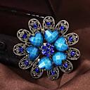 Мода Красивая ретро Heart Shape сплава серебра Rhinestone Броши (1 шт)