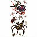 Водонепроницаемый Паук Временные татуировки наклейки татуировки Образец Форма для боди-арта (18.5cm8.5cm)