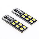 Де-кодом T10 2,5 Вт 12-2835 SMD 6000K белый свет Универсальные Автомобильные светодиодные Ширина Чтение лампы (12В 2шт)