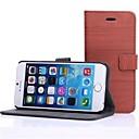 Деревянные зерна кожаный Твердый переплет для iPhone 6 Plus (разных цветов)