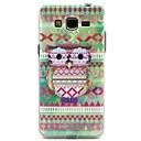 Племенной Pattern Сова Pattern Design Прочный ТПУ Дело Чехол для Samsung Galaxy Гранд Прайм