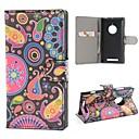 Пейсли Цветы PU кожаный чехол Обложка с подставкой и слот для карт Nokia Lumia 830