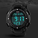 Мужская Военная Дизайн цифровой ЖК-экран черный Rubber Band Спорт наручные часы