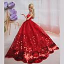 Кукла Барби классический красный вечернее платье с бисером