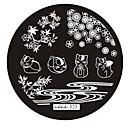 Ногтей штамп штамповка изображения шаблона плиты серии № 23 хе-хе