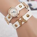Женские часы Золотые бабочки пояса Дамы браслет Часы Двойное кольцо часы