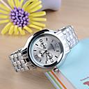 Мужская платье Часы Часы Мода высококачественной стали полоса кварцевые часы