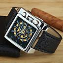 Мужская Круглый циферблат сплава кожаный ремешок автоматические механические водонепроницаемые часы (разных цветов)