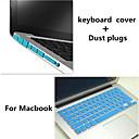 Высокое качество сплошной цвет ТПУ клавиатуры Обложка и пыли разъемы для Macbook Pro 15,4 дюйма (разных цветов)