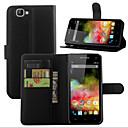Личи Вокруг открытого кронштейн кожаный бумажник карты Телефон Подходит для WIKO Радуга 4G (ассорти цветов)