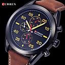 CURREN Мужская Армия Дизайн военные часы японский кварцевый кожаный ремешок