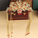 Китай Стиль невесты Костюм кисточка головной убор Хрустальный / Platinum покрытием Диадемы Свадебные 1шт