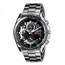 Diniho 8013G мужская модная Простой стиль аналоговые наручные часы с нержавеющей стальной лентой (черный)