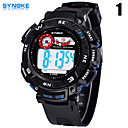 SYNOKE Мужская Круглый спортивные часы LED Display PU ремешок наручные часы (разных цветов)