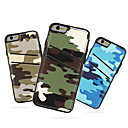 Камуфляж искусственная кожа с слот для карт обложка чехол для iPhone 6S / 6 Plus (разных цветов)
