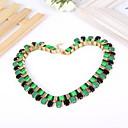 Шарм Зеленый Черный Колье Ожерелье Женщины ювелирные изделия