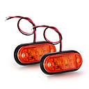 2 х автомобилей Грузовик Прицеп лампы Пиранья Светодиодные боковые габаритные мигалка свет лампы Янтарный