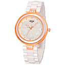 Женщина Часы Алмазный Белый керамический Мода водонепроницаемые часы
