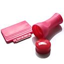 sello de uñas juego de herramientas de uñas rojo 1set