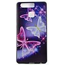 mariposa ver la caja del teléfono de TPU suave ribete negro para Huawei Ascend P9 / P9 Lite