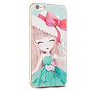 Kakashi fiore serie della principessa pittura TPU custodia morbida per iPhone 6S / 6 / 6S plus / 6 più (sakura verde)