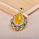 amarelo pedra de ouro feminina pingente banhado a liga de jóias diy