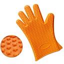 Kreative Küche Gadget / Beste Qualität / Gute Qualität Thick 190G Stars Silicone Glove Silicone Heat Insulated Gloves Fingers Silikon