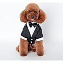 honden Outfits Zwart Hondenkleding Winter / Lente/Herfst Britsh Bruiloft /