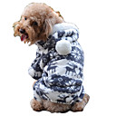 Katzen / Hunde Kostüme / Mäntel / Pullover / Kapuzenshirts / Overall Blau / Rosa / Grau / Kaffee Hundekleidung WinterKarton / Tier /