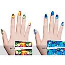 6pcs Nail Art Sticker Decalques de transferência de água maquiagem Cosméticos Prego Design Arte