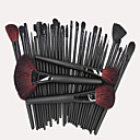 32 Makeup Brushes Set Goat Hair Portable Wood Face