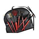 7 Makeup Brushes Set Goat Hair Portable Wood Face NFSS / Send Package